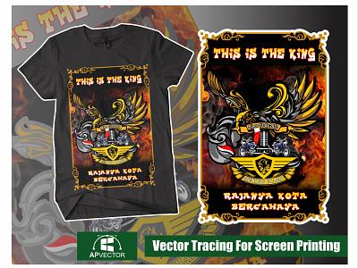 Design For RX King Cilacap design vector art vectorart vector illustration vector tracing logo vector tracing