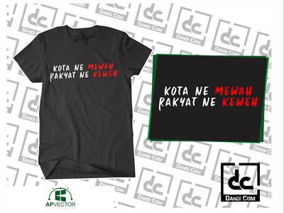 Design kotane Mewah Rakyat Ne Keweh vectorart vector illustration vector tracing logo vector tracing