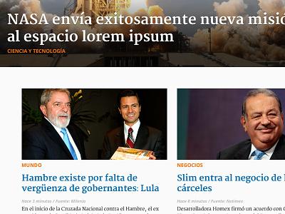 News mexico spanish news newspaper redesign web website