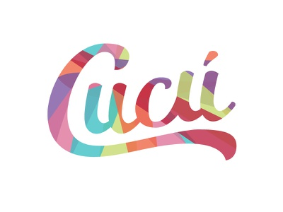 Cucú lettering type illustrator colorful logo
