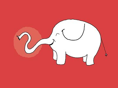 Elephant elephant hand-drawn illustration illustrator