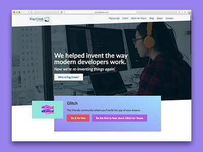 New fogcreek.com redesign website fogcreek
