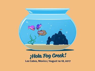 ¡Hola Fog Creek! illustration