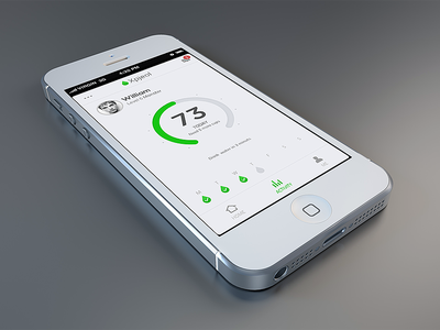 Another iphone app iphone app ui android clean circle number white