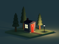 The Tiny House After Dark