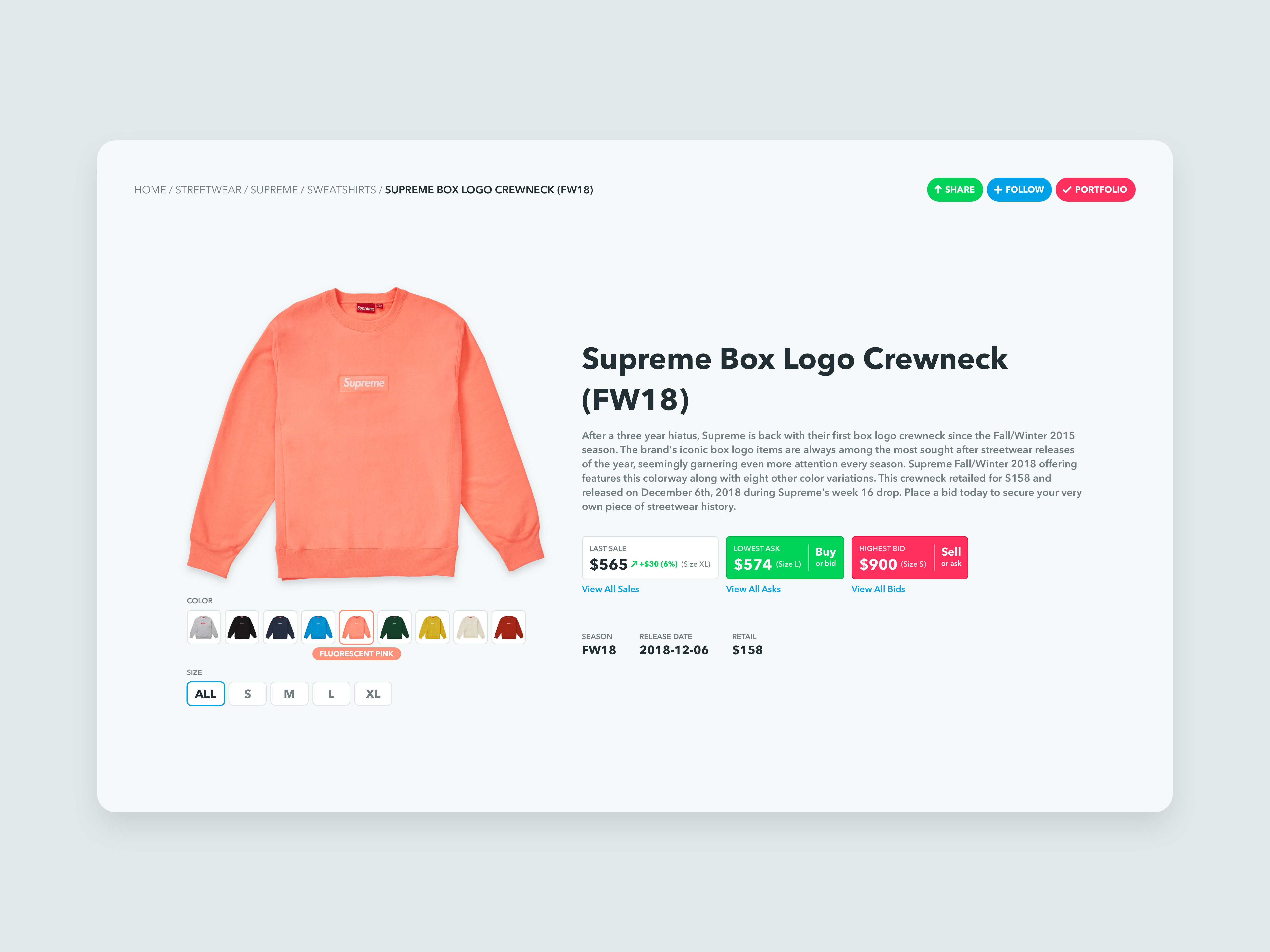 1906bf897f6 Stockx product page redesign jonathan sullivan dribbble png 5100x3825 Png  streetwear pink supreme logos wallpaper