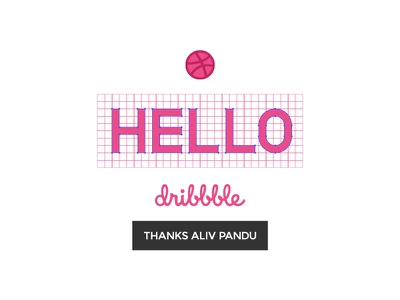 First Shot on dribbble thanks hello new player dribbble throw free