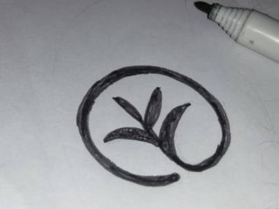 Leaf Sketch Logo Design
