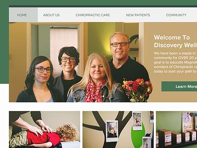 Chiropractor Re-Design website local re-design