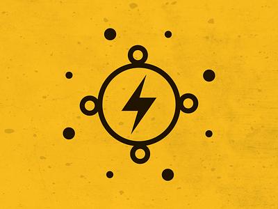 Bolt illustration circle lightning