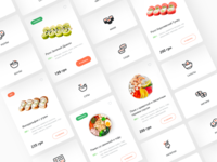 Mr.Roll - Japanese Sushi Food Delivery ecommerce shop web web design ios restaurant food delivery clean bowls sushi japanese food