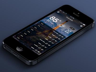 iOS7 Weather App v.2 (Hourly)