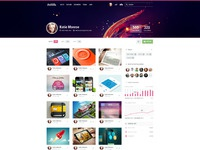 Dribbble profile redesign final