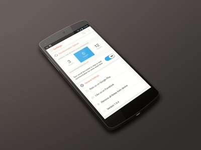 Settings for a new app app android ui flat google settings minimal white