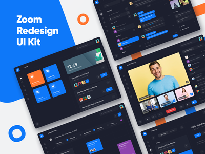 Zoom Redesign Ui Kit file manager files create meeting web app mobile ui web conference calls meetings create contacts chat clean videocalls zoom