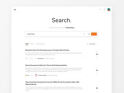U Platform Search Ui white simple ui ux uxui website web minimal mobile clean search results search