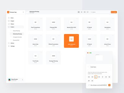 Big Sur File Manager App create folders web ui white big sur app minimal clean file manager file