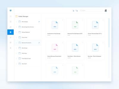 Dropbox Redesign Intro Part web list folders dashboard files documents white clean dropbox