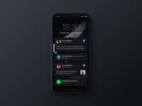 iPhone X Notifications Dark Mode