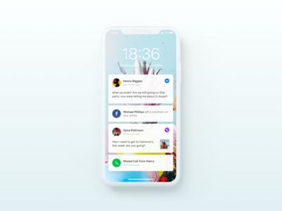 iPhone X Notifications Light Mode