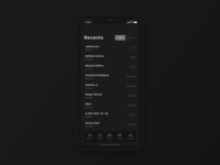 Iphone X - iOS Dark Mode - Recents Monochrome