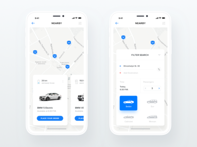 Car Sharing Service for iPhone X