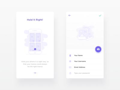 Intro Screen & Profile