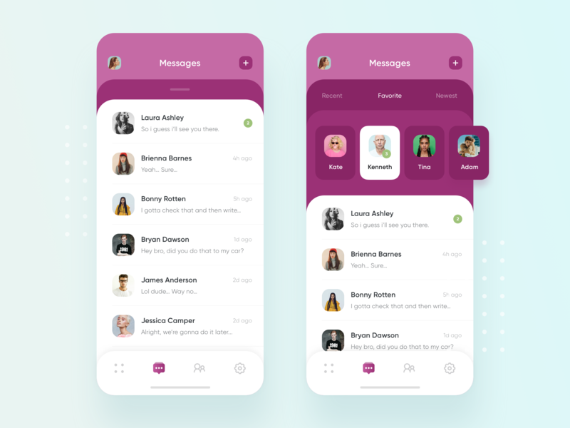 iOS Chat App Flow recents messages contacts iphone x chat minimal ios chat chat app chat