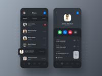 iOS 13 Dark Theme Phone App Concept
