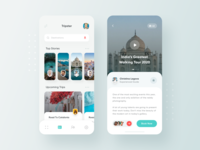 Traveler Social App Concept