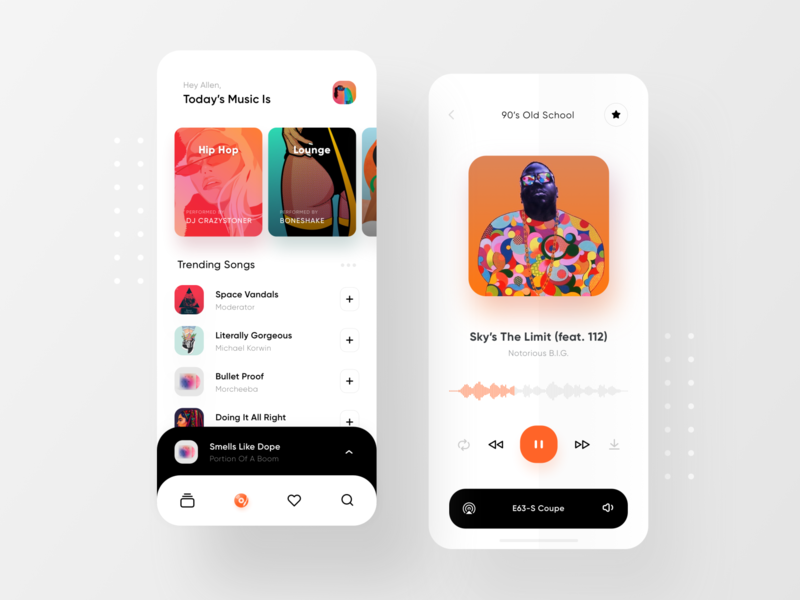 Music Player & Car Connection playlist minimal clean ios13 music player music soundcloud
