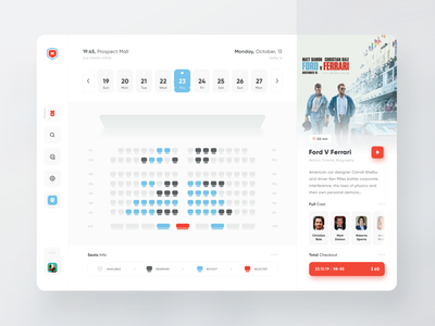 Buying Movie Tickets Online Service app mobile web planner schedule clean minimal ux ui event tickets movie buy