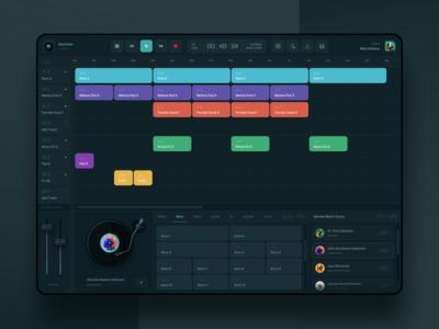 BeatGeek - eJay Tribute Beat Maker App player music web minimal clean sound editor editor library vinyl ux ui mobile dj beats beat maker