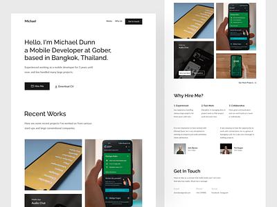 Michael - Personal Portfolio Website Design ui