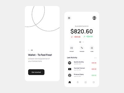 ⚡Digital Wallet App transaction banking app finance app mobile bank app finance app design banking e wallet wallet digital mobile app uiux design ux ui