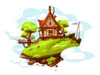 Cozy house in village