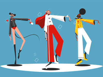 Music band performance kit8 flat vector illustration character woman band multinational performance group pop