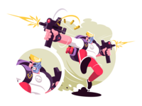 Strike game player
