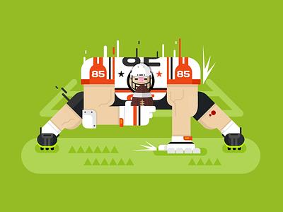 American football player american sport game pose football player cartoon character illustration vector flat kit8