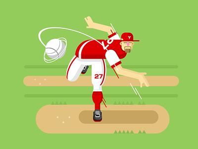Baseball player ball character player baseball illustration vector flat kit8