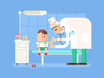 Doctor doing child vaccination vaccination child doctor illustration vector flt kit8
