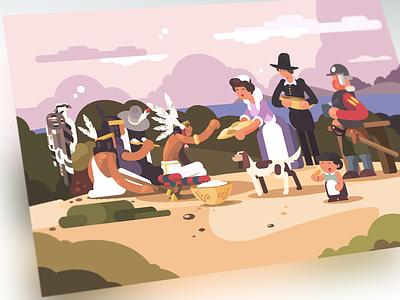 Thanksgiving day ospry media fanart thanksgiving illustration flat kit8