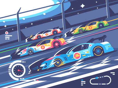 Nascar stadium competition race car nascar illustration vector flat kit8