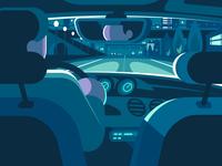 Car backseat view