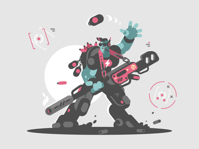 Alien invader invader cartoon weapon gun soldier future alien character illustration vector flat kit8