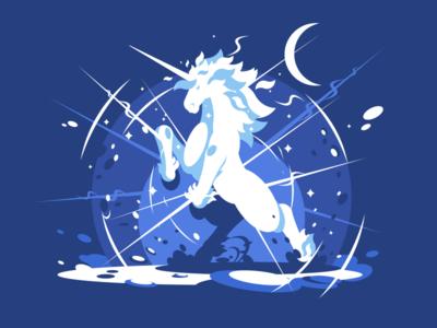 Unicorn horn fantasy mythical creature beast animal horse unicorn illustration vector flat kit8