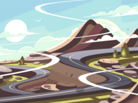 Mountain road serpentine