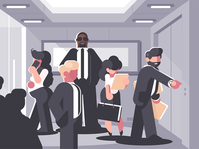 People waiting for elevator people character level elevator waiting businesswoman businessmen kit8 flat vector illustration