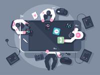 Team mobile development