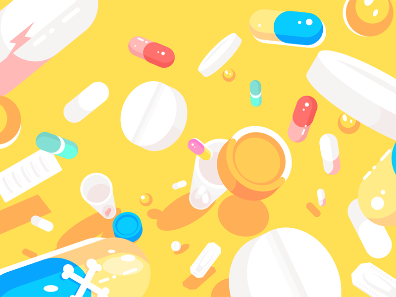 Medical pills tablets capsules drug capsule tablet pills medical kit8 flat vector illustration